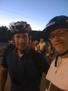 This Allan and myself just before the start of the race at sunrise