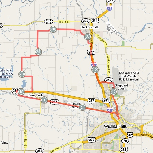 Our 50-mile bike route