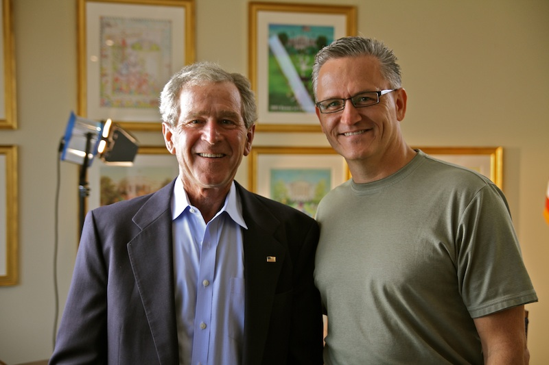 President George W. Bush and Russ Pond