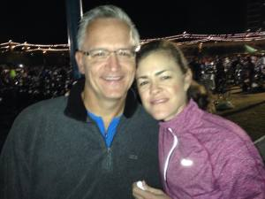 Angela and Russ Pond at Ironman